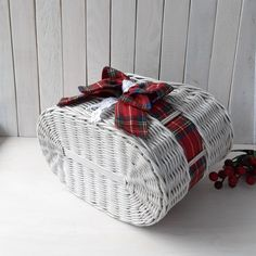 Farmhouse door basket Valentine's decor Personalized Gray | Etsy