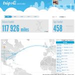 TripsQ, Visual Travel Stats Created From Your Foursquare Check-Ins