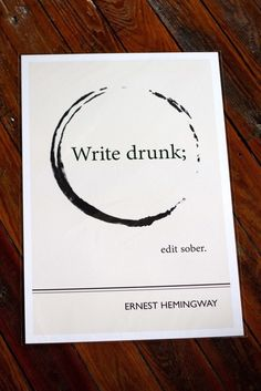 Buy this unique Ernest Hemingway Quote Print., Buy this unique Ernest Hemingway Quote Print. J luvactingnowand J Buy this unique Ernest Hemingwa Ernest Hemingway, Hemingway Quotes, Hemingway Tattoo, Writing Quotes, Writing Prompts, Book Quotes, Me Quotes, Writing Topics, Great Quotes