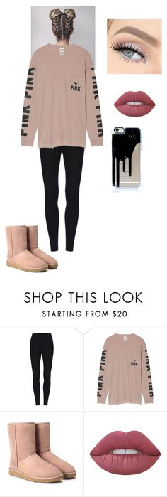 """Casual"" by jsteely-1 on Polyvore featuring Victoria's Secret, UGG, Lime Crime and GET LOST"