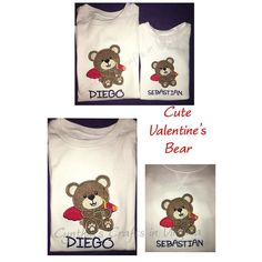 Personalized Cute Valentine's Bear #applique #appliqué #personalized #crafting #embroidery #embroidered #appliqueembroidery #valentineday #valentines #boystshirts #monogram #yesbbb #cynthiascraftsinvirginia by cynthiascraftsinvirginia