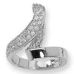 Jackie Kennedy Fashion Crystal Loop Ring