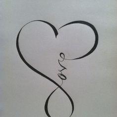 Love you infinity symbol tattoo