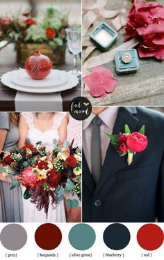 Burgundy and Blueberry - The Prettiest Wedding Color Palettes - Photos