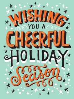 Wishing you a cheerful holiday season