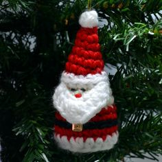 Crochet Santa Christmas Ornament Pattern by CrochetArcade on Etsy