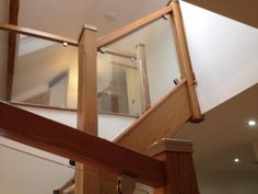 Glass balustrade for stairs : Shaw Stairs Ltd