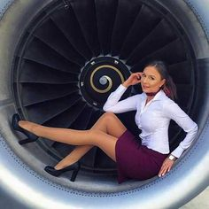 Tagged with legs, stewardess, airhostess, trolley dollies; Every time I try to take a photo of a Jet Engine, a bloody stewardess wants to be in the picture. Flight Attendant Hot, Airline Attendant, Flight Girls, Pantyhosed Legs, Airline Uniforms, Sexy Stockings, Sexy Legs, Pin Up, Beautiful Women