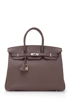 Shop Hermes 35Cm Etain Clemence Leather Birkin by Heritage Auctions Special Collections - Moda Operandi