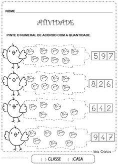 Atividade Número e Quantidade Pintinho Amarelinho