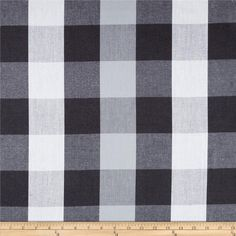 I need so many yards of this!!, Peppered Cotton Large Buffalo Plaid Gravel from @fabricdotcom  From Studio E, this yarn dyed plaid fabric is perfect for quilting, apparel and home decor accents.  This fabric features woven cross threads in different colors to create subtle color variations and a slight sheen. Cross threads are white, black and shades of grey.