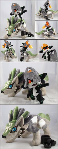 The legend of zelda twilight princess wolf link and midna plush Want!