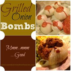 ~ Easy Grilled Onion Bombs re-pinned by: https://www.pinterest.com/PinsByBecky/