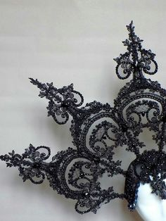 MADE TO ORDER The headdress made of lace on strong frame, in heart a comfortable hat. Festival Makeup Glitter, Glitter Makeup, Russian Fashion, Russian Style, Diy Crown, Diy Hat, Fascinator Hats, Neck Piece, Tiaras And Crowns