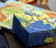Map-paper boxes and pouches.