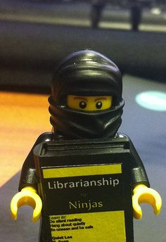 you gots to take a photo when you can! He's so clever, he's written a book on how to be the best Ninja Librarian. Library Memes, Library Quotes, Teacher Librarian, Reading Library, Library Books, I Love Books, My Books, Library Inspiration, Reading