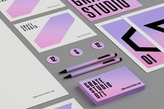 Branding: Grate Studio™ by Peter Tarka, via Behance Brand Identity Design, Corporate Design, Branding Design, Typography Inspiration, Graphic Design Inspiration, Logo Branding, Logos, Brand Guidelines, Brand Packaging