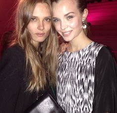 TopModel Josephine Skriver wearing By Malene Birger dress from Christmas collection 2013