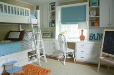 Orange and turquoise big boy room. #toddler room #orange