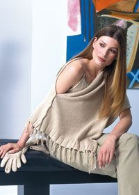 Free knitting pattern - shawl- love the buttons for closure :)