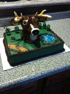 deer head cake