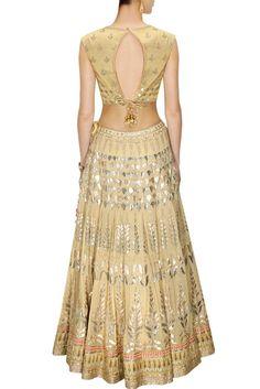 Golden color Bridal Lehenga Choli