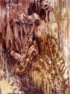 Художница Марина Подгаевская: картина Джаз №4 (Утро) - холст,масло,поталь