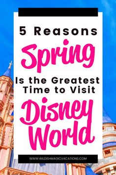 When is the best time to take your family on a vacation to Disney World? Here are 5 reasons why spring gets my vote! Disney Vacation Club, Disney Vacation Planning, Disney World Planning, Disney Travel, Disney Cruise Line, Disney Vacations, Disney World Outfits, Disney World Trip, Disney World Resorts