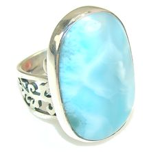 SilverRushStyle.com - Beautiful Blue Larimar Sterling Silver Ring