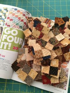 Go Four It - this is part of the 444 needed Four Patches, all are now made, we are beginning to add corners for in-a-square.  Hope you plan to join in the fun!!!
