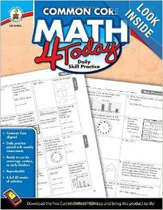 Common Core Math 4 Today, Grade 3: Daily Skill Practice (Common Core 4 Today): Erin McCarthy: 9781624426018: Amazon.com: Books