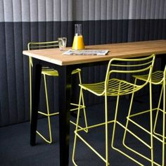fold-table-with-construct-bar-stools-in-yellow_detail-2-copy #colorfurniture