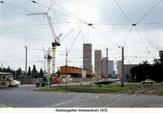 HANNOVER KÜCHENGARTEN IHMEZENTRUM 1972 Hier wird gerade das Ihme-Zentrum gebaut.