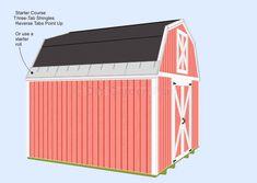 Gambrel-Barn Shed Plans Shingle Starter Course