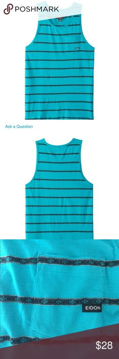 EIDON Med. Men's tank top NWT black or turquoise EIDON Med. Men's tank top with pocket NWT  PICK YOUR COLOR choose black or turquoise Eidon is more than a brand. They share a love of the ocean and a desire to travel anytime and anyplace. Eidon Shirts Tank Tops