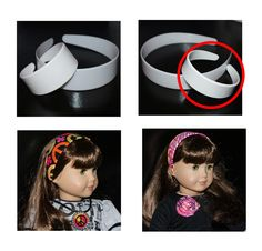 """2 doz Blank Plastic Headbands 18 inch AG Doll 7/8"""" width DIY Weave Wrap Cover for American Girl Style Dolls by PunchPlacePlus on Etsy https://www.etsy.com/listing/163579288/2-doz-blank-plastic-headbands-18-inch-ag"""