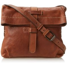 FRYE Artisan Fold Over Cross-Body Handbag ($297) ❤ liked on Polyvore featuring bags, handbags, shoulder bags, handbags purses, handbags crossbody, crossbody purse, brown cross body purse and frye purse