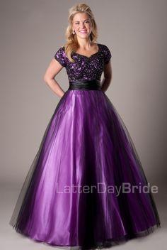 Short sleeve purple dress