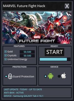 Marvel Future Fight Hack hack for Android and iOS https://www.facebook.com/MarvelFutureFightHackv4