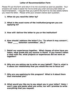 When asking for letters of recommendation, it is great to include the answer to these questions!  http://www.sociologysource.org/home/2012/4/9/writing-letters-of-recommendation-the-fast-easy-way.html