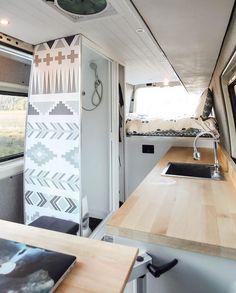 "The Roadside Collective on Instagram: ""📷: @van_yacht ... A beyond awesome DIY built!"" Campervan Interior, Diy Camper, Camper Van, House On Wheels, Sprinter Van Conversion, Camper Conversion, Rv Life, Camper Life, Motorhome"