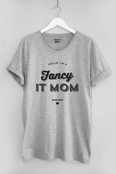 T-shirt en coton biologique Fancy It Mom Collection capsule émoi émoi by  Uncle Bad 95810d130a10