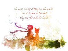 Der kleine Prinz zitieren 2nd Edition KUNSTDRUCK von SubjectArt