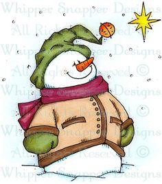 Star Light, Star Bright - Snowmen Images - Snowmen - Rubber Stamps - Shop