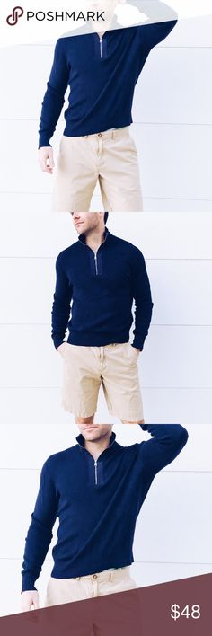 """Banana Republic Sweater Zip Up ✔️Ultra comfortable men's V-neck zip up pullover sweater. True to size. Stretchy.    ✔️Size Medium. 60% cotton, 20% viscose, 20% nylon. Excellent condition, only worn once. Smoke free home.   ✔️Model Stats:         -Shirts: S/M     -Pants: 33/34""""  ⚫️Bundle to save 5% on 3+ Items  ▫️Add to Bundle"""" to add more items in my closet or """"Buy"""" to checkout here with your size. Banana Republic Sweaters Zip Up"""