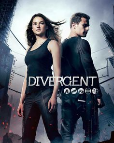 #NEW┇New/old Divergent Movie poster, featuring Theo and Shailene Woodley! I miss this series and I miss these two working together!