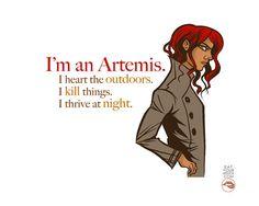 I'm an Artemis Greek Goddess Art Print by LipsticKissPress on Etsy, $10.00