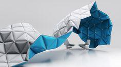 KIVO structure spatiale pour open space par Alexander Lorenz L'environnement professionnel est propice à l'innovation et imagination, organiser, séparer, délimiter, agencer, isoler, autant de questions où il faut trouver les bonnes réponses !  Composé d'éléments triangulaires d'acier poli pouvant se joindre à d'autres, la structure se recouvre ensuite de feutre coloré pour le confort, l'esthétisme et l'acoustique.