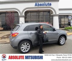 #HappyAnniversary to Ana Berrios on your 2013 #Mitsubishi #Outlander from James Andre at Absolute Mitsubishi!