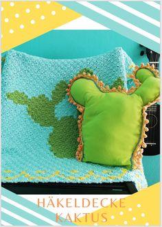 Häkel Dir selbst eine Kaktusdecke - ausführliche Häkelanleitung für alle, die Kakteen lieben und von Kakteen nicht genug bekommen können und drigen noch weitere Kaktusdeko benötigen. Etsy, Mantas Crochet, Baby Blanket Tutorial, Tutorials, Beautiful Gifts, Crocheted Blankets